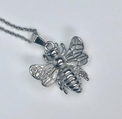 Bee Happy Silver- Halsband