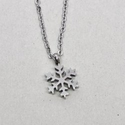 Snowflake Silver- Halsband