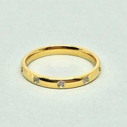 Line Crystal Gold- Ring