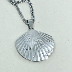 Summer Shell Steel- Halsband