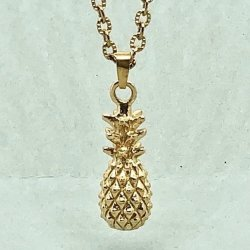 Pineapple Gold Mini- Halsband