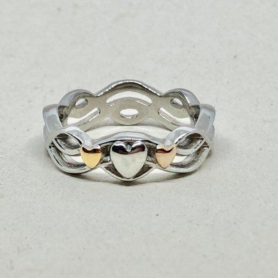 Braided Hearts- Ring